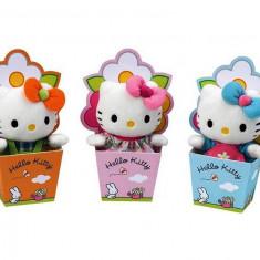 Plush Hello Kitty 15 cm -Cutie Floare- Produs original !! + CADOU - Jucarii plus