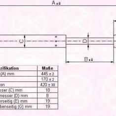 Amortizor portbagaj CITROËN C3 I 1.1 i - KLOKKERHOLM 05197100
