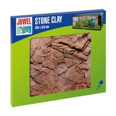 Decor fundal 3D acvariu, STONE CLAY - Decor si planta artificiala acvariu