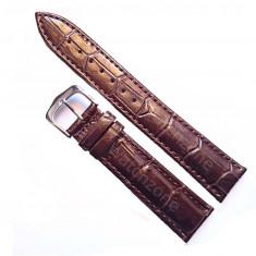 Curea de ceas Piele MARO imprimeu Crocodil Curea ceas 24mm Curea maro - Curea ceas piele