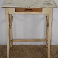 Masuta din lemn masiv; Masa cu sertar - Masa living