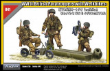 + Kit 1/35 figurine Tristar 35041 - British Paratroopers with Welbikes +