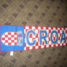 2 Fulare Suporteri Echipa Nationala de Fotbal Croatia ,sponsor CocaCola ,L=131cm