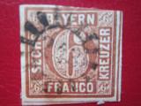 TIMBRE GERMANIA BAYERN=6 FRANCO