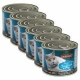 Conservă pentru pisici Leonardo - cu pește, 6 x 200 g - Hrana pisici