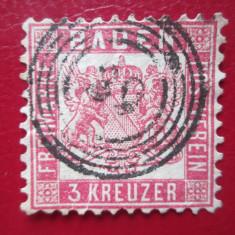 TIMBRE GERMANIA=BADEN=1862, Stampilat