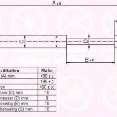Amortizor portbagaj AUDI A3 1.6 E-Power - KLOKKERHOLM 00267100