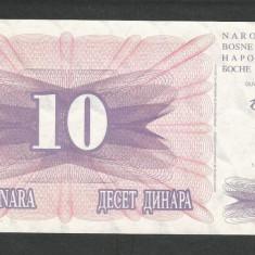 BOSNIA HERTEGOVINA 10 DINARI DINARA 1992, a UNC [1] P-10a - bancnota europa