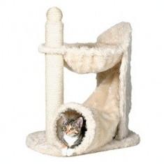 Sisal pentru pisici cu tunel și culcuș