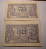 2 lei 1915 XF ++ Serii Consecutive