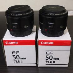 Canon EF 50mm f/1.8 II, ca nou la cutie - Obiectiv DSLR Canon, All around, Autofocus, Canon - EF/EF-S
