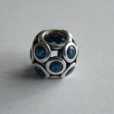 Talisman Pandora din argint -blue whimsical ligths -791153NSB (612) - Bratara argint