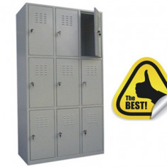 VESTIAR METALIC CU 9 USI fara accesorii, 889x450x1800 mm (LxlxH), ECO+
