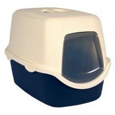 Toaletă pentru pisici cu uşă şi mâner