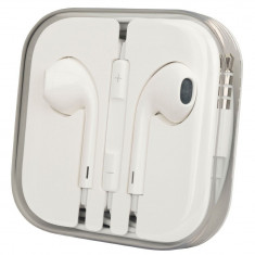 Handsfree (casti) cu fir si microfon Apple MD827ZM/A bulk alb pentru Apple iPhone 5/5C/5S/6/6 Plus/iPod/iPad - Handsfree GSM