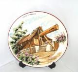 Cumpara ieftin Farfurie de perete ceramica pictata manual sub smalt, semnata - Canare Spania