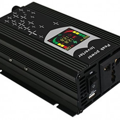 Invertor port USB Display Digital si CPU Control 12V 1000W - Invertor curent