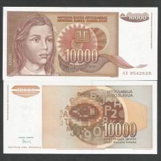 IUGOSLAVIA 10000 10.000 DINARI 1992 UNC [1] P-116a, necirculata - bancnota europa