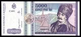 ROMANIA, 5000 lei 1992, UNC