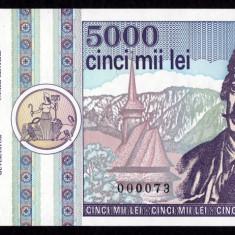 ROMANIA, 5000 lei 1992, UNC - Bancnota romaneasca