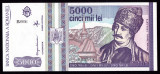 Romania, 5000 lei 1993, UNC