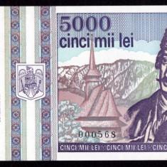 ROMANIA, 5000 LEI 1993, UNC - Bancnota romaneasca
