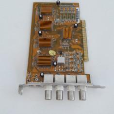 Placa captura 4 CANALE PCI (546) - Placa de captura PC