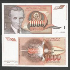 IUGOSLAVIA  1.000 1000  DINARI  DINARA  1990  UNC  [1] P-107a  ,  necirculata