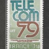 Franta.1979 Targ international de telecomunicatii Geneva SF.593.1 - Timbre straine, Nestampilat
