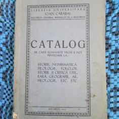 Ioan CARABAS - CATALOG DE CARTI ROMANESTI VECHI SI NOI (1939) - Carte veche