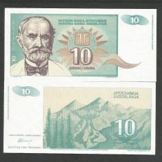IUGOSLAVIA 10 DINARI DINARA 1994 UNC [1] P-138, necirculata - bancnota europa