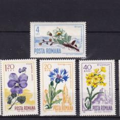 ROMANIA 1967  LP  649  FLORA CARPATINA SERIE  MNH