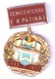 INSIGNA SEMICENTENAR FEDERATIEI ROMANE DE PATINAJ