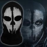 Masca tip CAGULA Call of Duty Ghosts COD Ghost ski moto paintball airsoft craniu, Marime universala, Negru