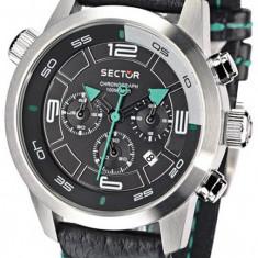 Sector R3271602525 ceas barbatinou 100% original. Garantie.Livrare rapida. - Ceas barbatesc Sector, Casual, Quartz, Inox, Piele, Cronograf