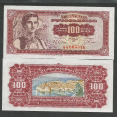 IUGOSLAVIA 100 DINARI DINARA 1963 UNC [1] P-73, necirculata - bancnota europa