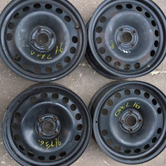 Jante tabla Opel Astra G, Astra H, Corsa D, pe R16-4x100 - Janta tabla Nespecificat, 6, 5, Numar prezoane: 4