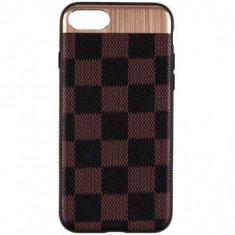 HUSA APPLE IPHONE 7 LEOLEO BACK COVER - BROWN SQUARES - Sticker Telefon