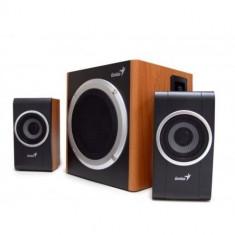 Boxe Genius 2.1 SW-HF2.1 1200 Wood, 30W RMS lemn - Boxe PC