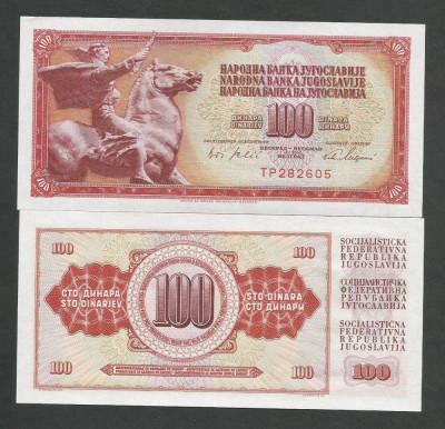 IUGOSLAVIA  100 DINARI  DINARA  1965 ,  UNC  [1]  P-80a  ,   necirculata foto