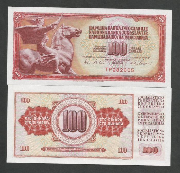 IUGOSLAVIA  100 DINARI  DINARA  1965 ,  UNC  [1]  P-80a  ,   necirculata