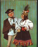 CPI (B7984) FELICITARE DE PASTI, CARTE POSTALA - papusi in costum national, Necirculata, Fotografie