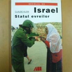 Israel statul evreilor Claude Klein Bucuresti 2003 - Carti Iudaism