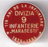 """INSIGNA  115 ANI DE LA INFIINTAREA DIVIZIEI 9 INFANTERIE """"MARASESTI"""""""