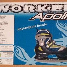 Patine APOLLO reglabile - WORKER - marime M(32-35), Marime: Nespecificat