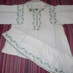 Camasa cu poale - Costum populare, Marime: 42, Culoare: Verde