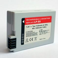 Acumulator inlocuitor de tip LP-E8 pt. EOS Canon 550D 600D 650D 700D - Baterie Aparat foto, Dedicat