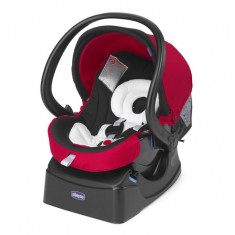 Scaun auto Chicco AutoFix, Red Wave, 0luni+ - Scaun auto copii