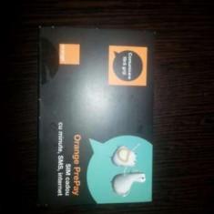 Cartela Orange 21 lei- cu numar ai obtiune(6000Mb+nelimitat orange) sau credit