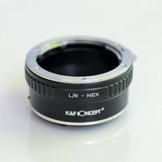 Inel Adaptor Leica R LR - body Sony E NEX-5R 5T 6 7 A7 A7R A3000 A5000 - sh - Inel adaptor obiectiv foto